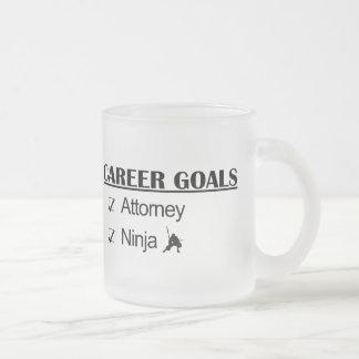 Ninja Career Goals - Attorney Frosted Glass Mug