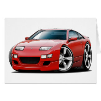 Nissan 300ZX Red Car Greeting Card