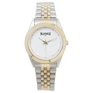Njoku Apparel Women's 'Two-Tone' Wrist Watch. Wristwatches