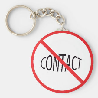 NO CONTACT PRODUCTS BASIC ROUND BUTTON KEY RING