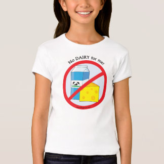 """No Dairy for me"" Allergy Awareness TShirt"