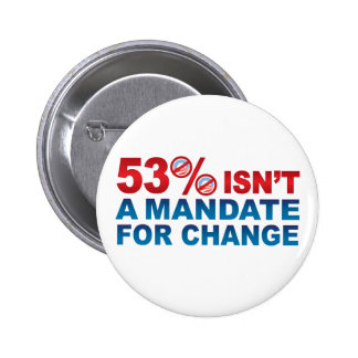 NO MANDATE FOR CHANGE Buttons