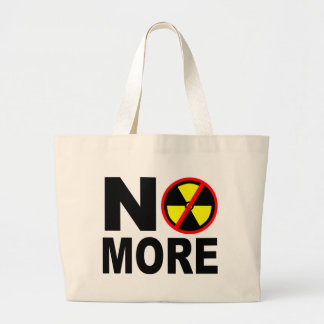 No More Anti-Nuclear Slogan Jumbo Tote Bag