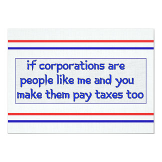 No More Corporate Welfare 13 Cm X 18 Cm Invitation Card
