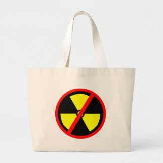 No Nuclear Anti Nuke Symbol Jumbo Tote Bag