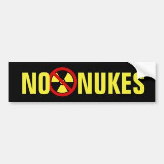 No Nukes Bumper Sticker