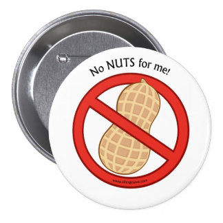 """No Nuts for me"" Badge"