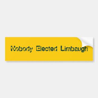 Nobody Elected Limbaugh Bumper Sticker