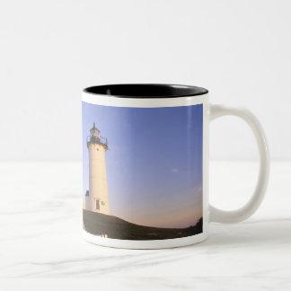Nobska Lighthouse, Woods Hole, Massachusetts Two-Tone Mug