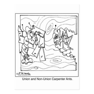 Non-Union Carpenter Ants Postcard