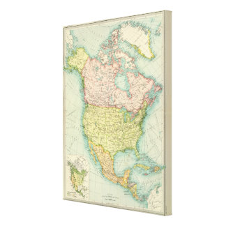 North America political Gallery Wrapped Canvas