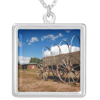 North America, USA, Arizona, Navajo Indian 2 Square Pendant Necklace