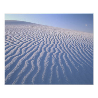 North America, USA, New Mexico, White Sand Dunes Poster