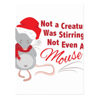 Not Even Mouse Postcard