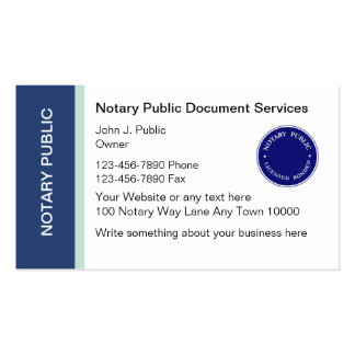 Notary Public Business Cards