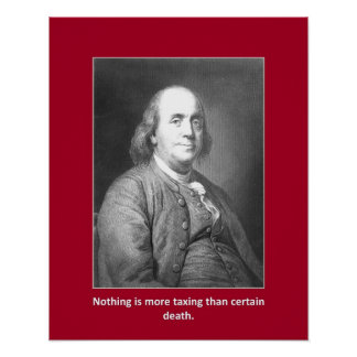 Nothing Is More Taxing Than Certain Death Poster