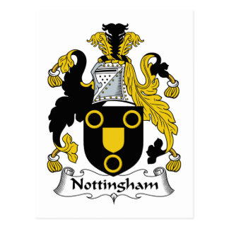 Nottingham Family Crest Postcard