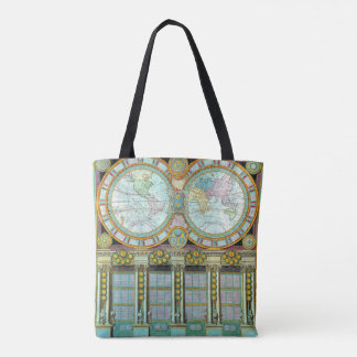 Nouveau Monde Classical Map Grocery Tote Tote Bag