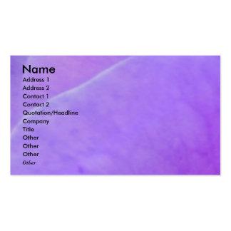 NOVINO - Purple Flower Leaf Pack Of Standard Business Cards