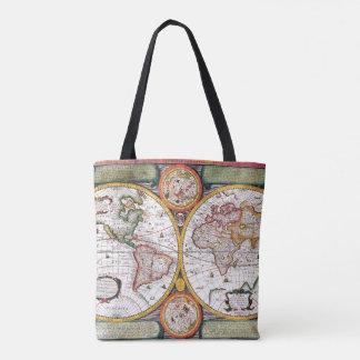 Novvelle Terra Universelle Classical Map Tote Bag