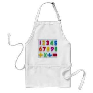 Numbers and Arithmetic operators in plastic Standard Apron