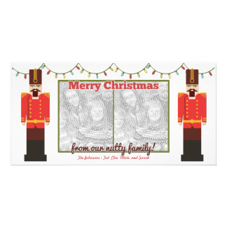 Nutcracker-Nutty Family-Photocard Template Photo Greeting Card