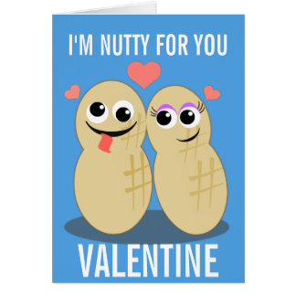 Nutty For You Valentine Greeting Card
