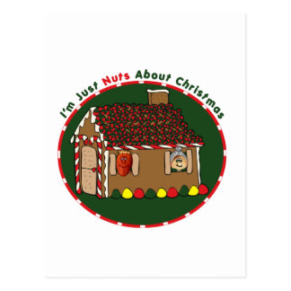 Nutty Gingerbread House Postcard