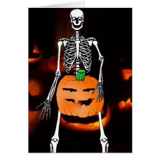 Nutty Skeleton Greeting Card
