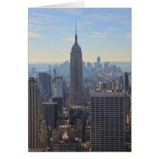 NY City Skyline Empire State Building, World Trade Greeting Card