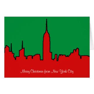 NYC Skyline: ESB Christmas Silhouette Greeting Card