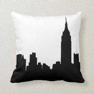 NYC Skyline Silhouette, Empire State Bldg #1 Throw Cushion