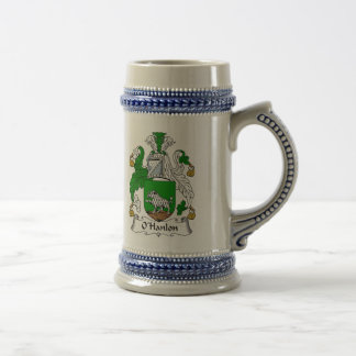 O Hanlon Coat of Arms Stein - Family Crest Beer Steins