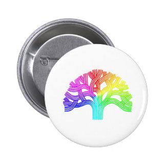 Oakland Tree Rainbow 6 Cm Round Badge