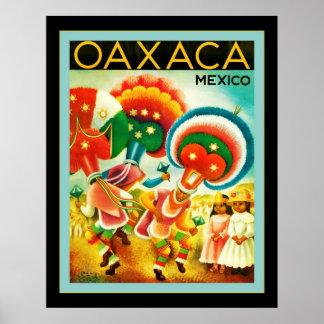 Oaxaca ~ Mexico ~ Vintage Travel Poster