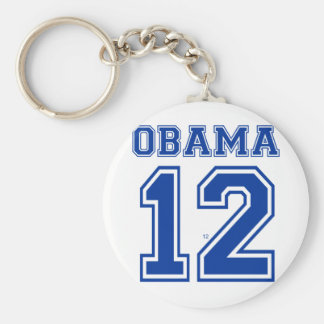 Obama 12 basic round button key ring