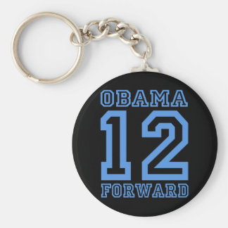 Obama 12 forward basic round button key ring