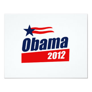 Obama 2012 11 cm x 14 cm invitation card