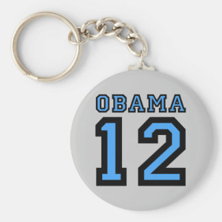 Obama 2012 basic round button key ring