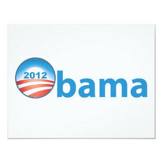 Obama 2012 With Obama Logo 11 Cm X 14 Cm Invitation Card