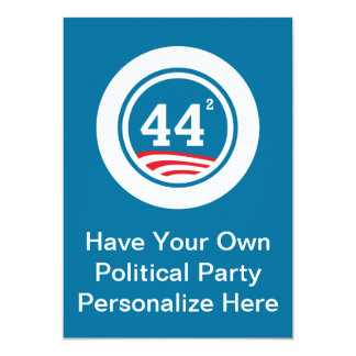 Obama - 44 Squared 13 Cm X 18 Cm Invitation Card