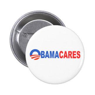 Obama Cares 6 Cm Round Badge