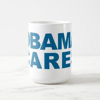 Obama Cares Basic White Mug