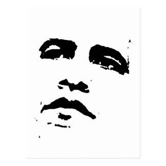 Obama Face T-shirt Postcard