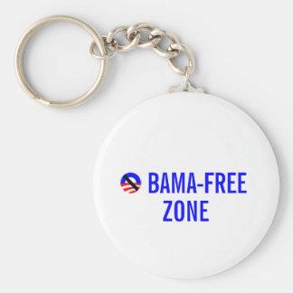 obama-free zone basic round button key ring