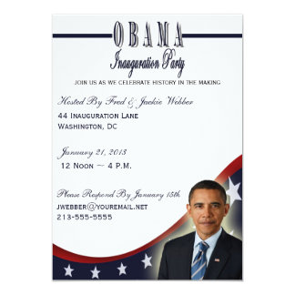 Obama Inauguration 2013 Party Invitation