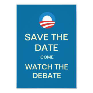 Obama Logo Debate Watch Party Invitations