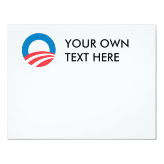 Obama Merchandise 11 Cm X 14 Cm Invitation Card