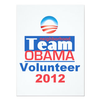 Obama TEAM 17 Cm X 22 Cm Invitation Card