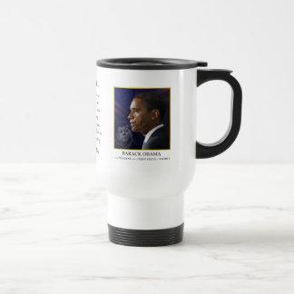 Obama with JFK - Travel Mug